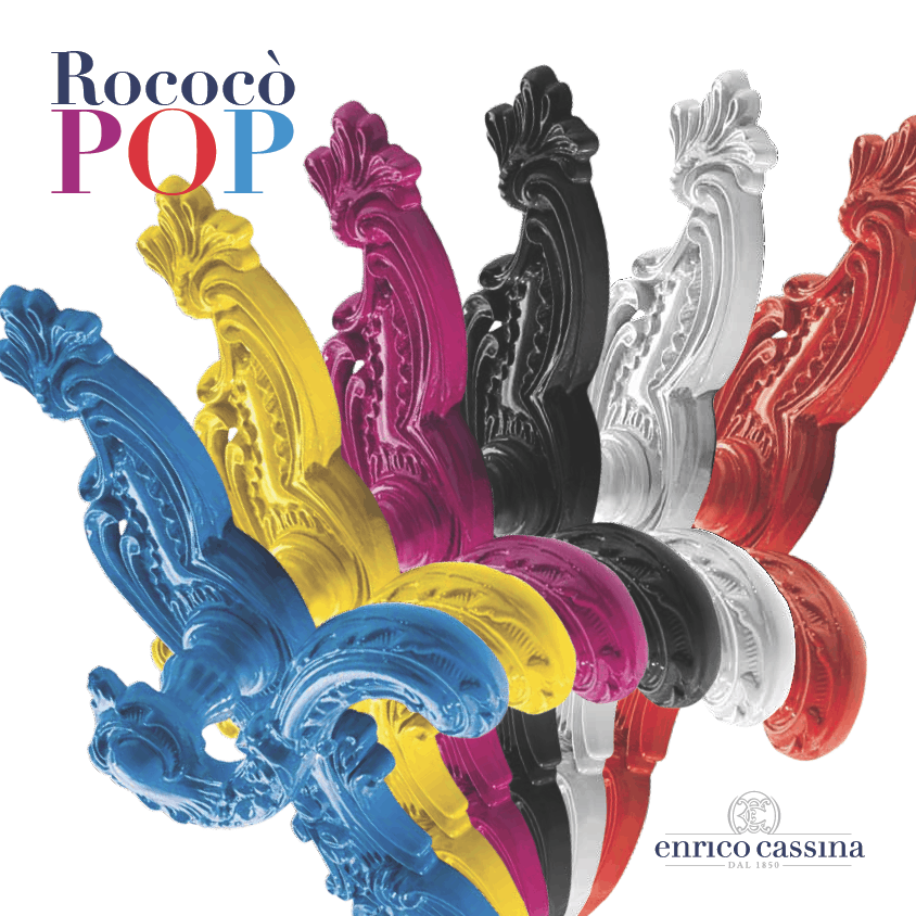 Rococò Pop: la nuova collezione di maniglie di Enrico Cassina