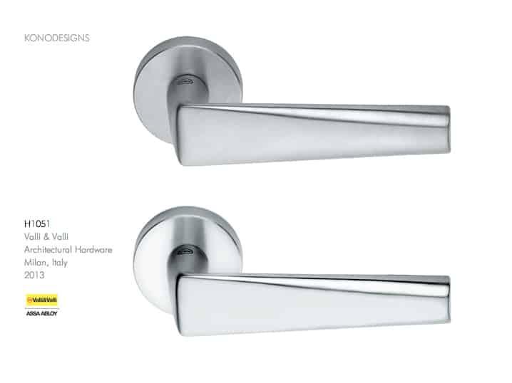 maniglie porte e finestre - H 1051 Valli & Valli