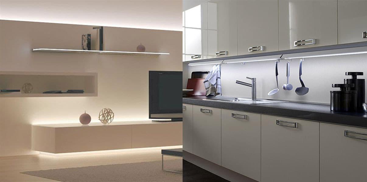 Awesome striscia led per cucina photos - Led in cucina ...