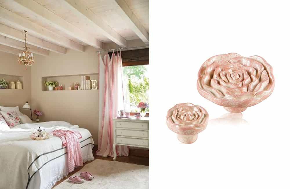 pomoli decorativi rosa per mobile