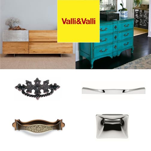 Maniglie per mobili Valli&Valli : Qualità e Design