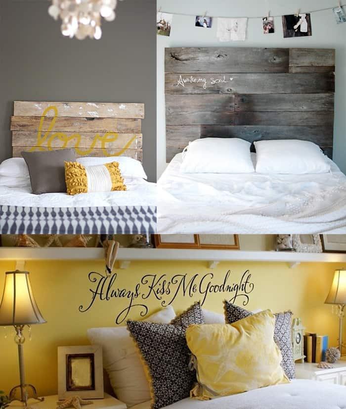 Arredare casa con amore 5 soluzioni facili veloci e divertenti - Testiera letto fai da te in legno ...