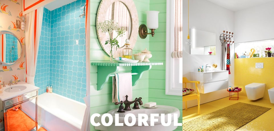 arredo bagno colorato idee