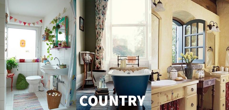 arredo bagno moderno country