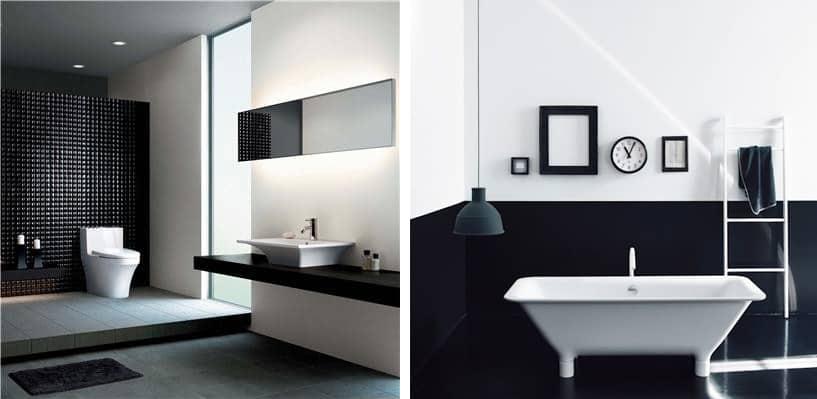 arredo bagno moderno stile geometrico