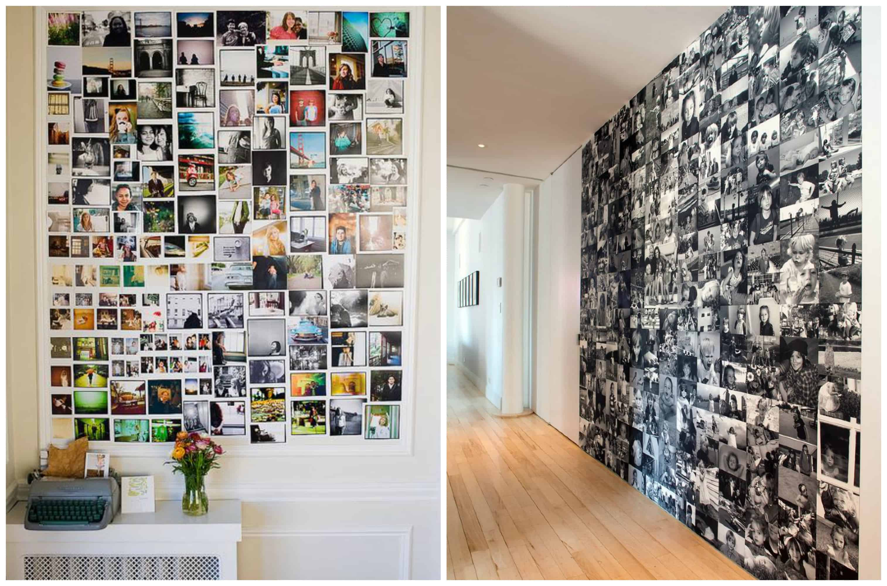 Diy 10 idee su come decorare una parete di casa for Arredare con fotografie