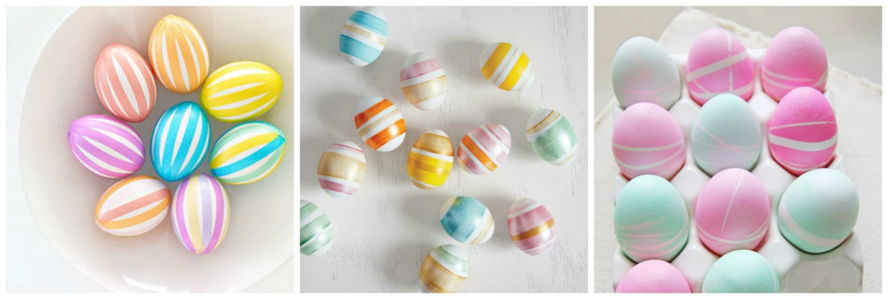 STRIPES DIY 10 MODI PER DECORARE LE UOVA DI PASQUA TUTTOFERRAMENTA.IT