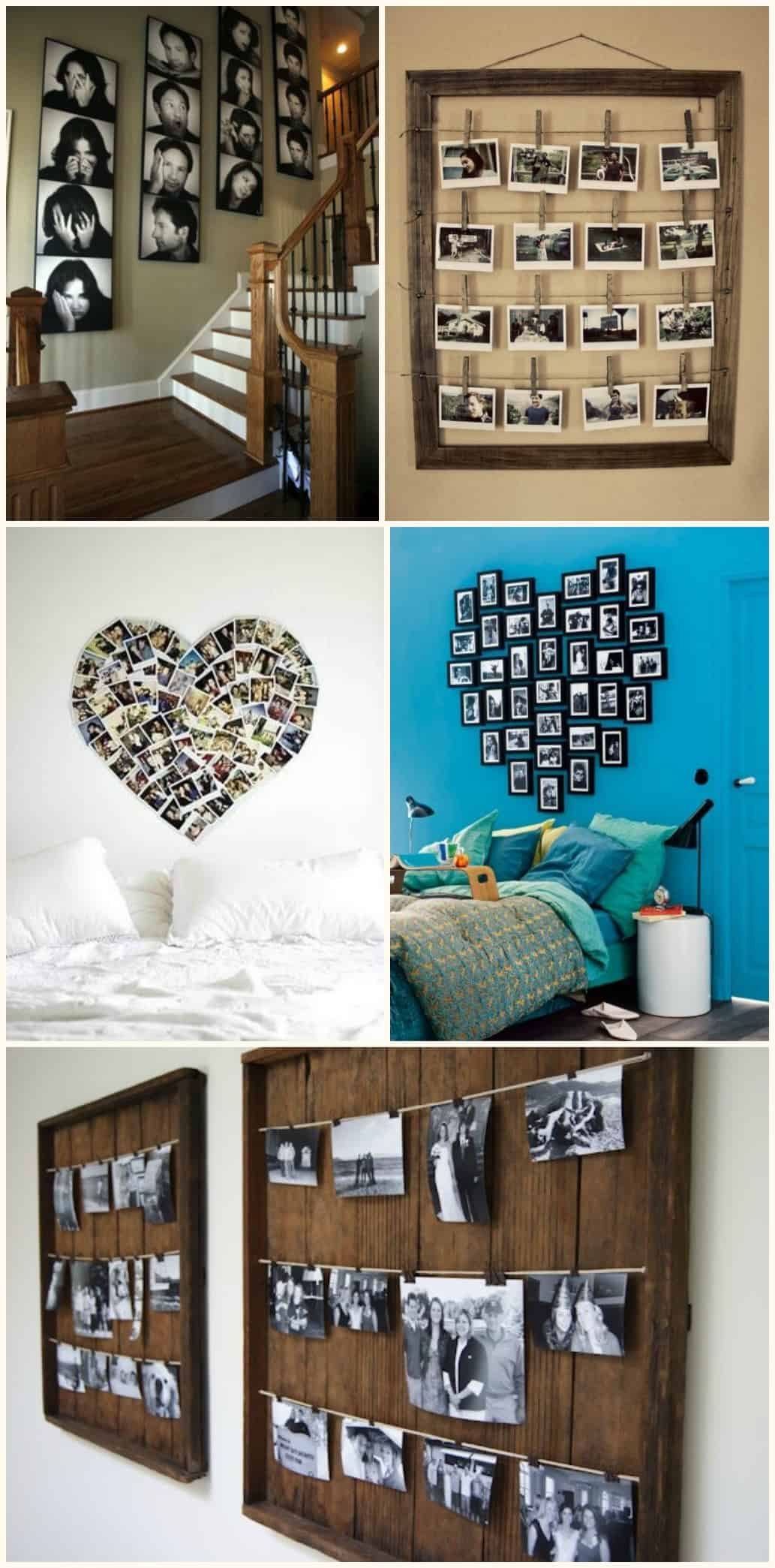Diy 10 idee su come decorare una parete di casa for Parete di fotografie