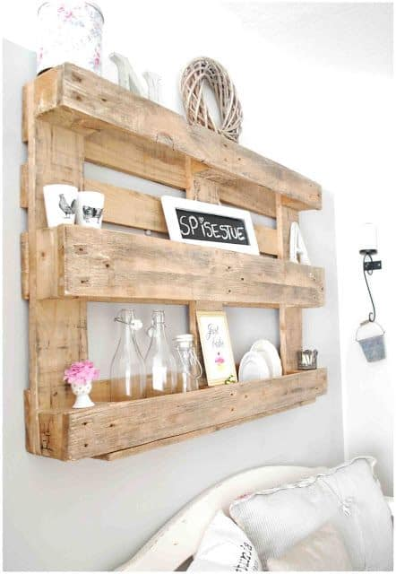 Wandrek Keuken Gamma : Wall Shelves Made From Pallets