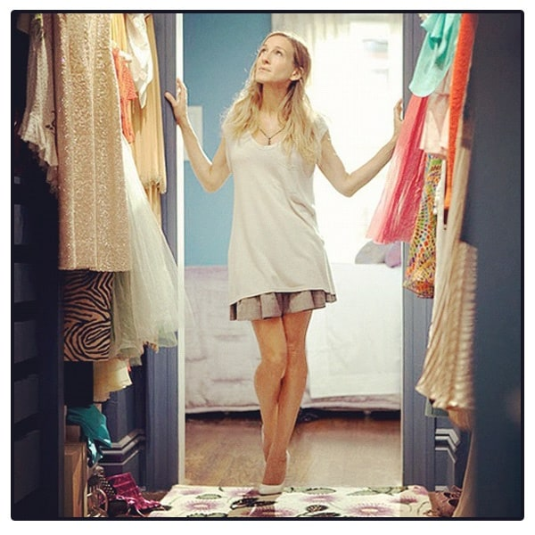 Carrie Bradshaw sex and the city cabina armadio