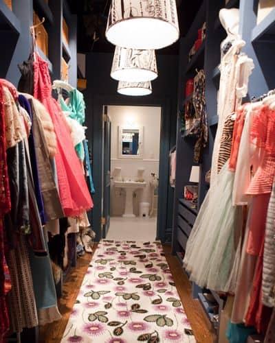 cabina armadio a vista di Carrie Bradshaw