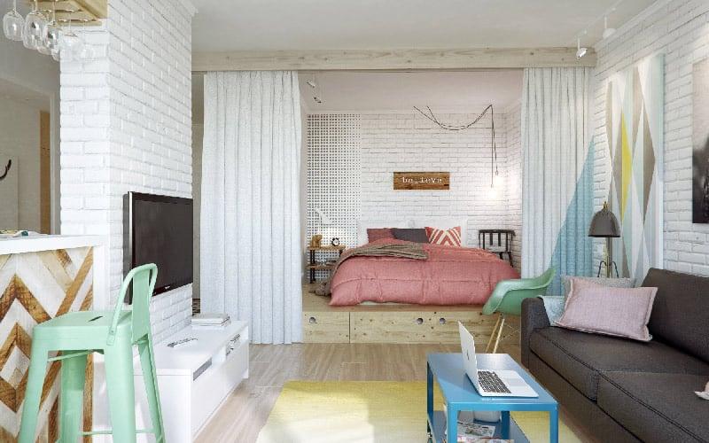 camera da letto open space