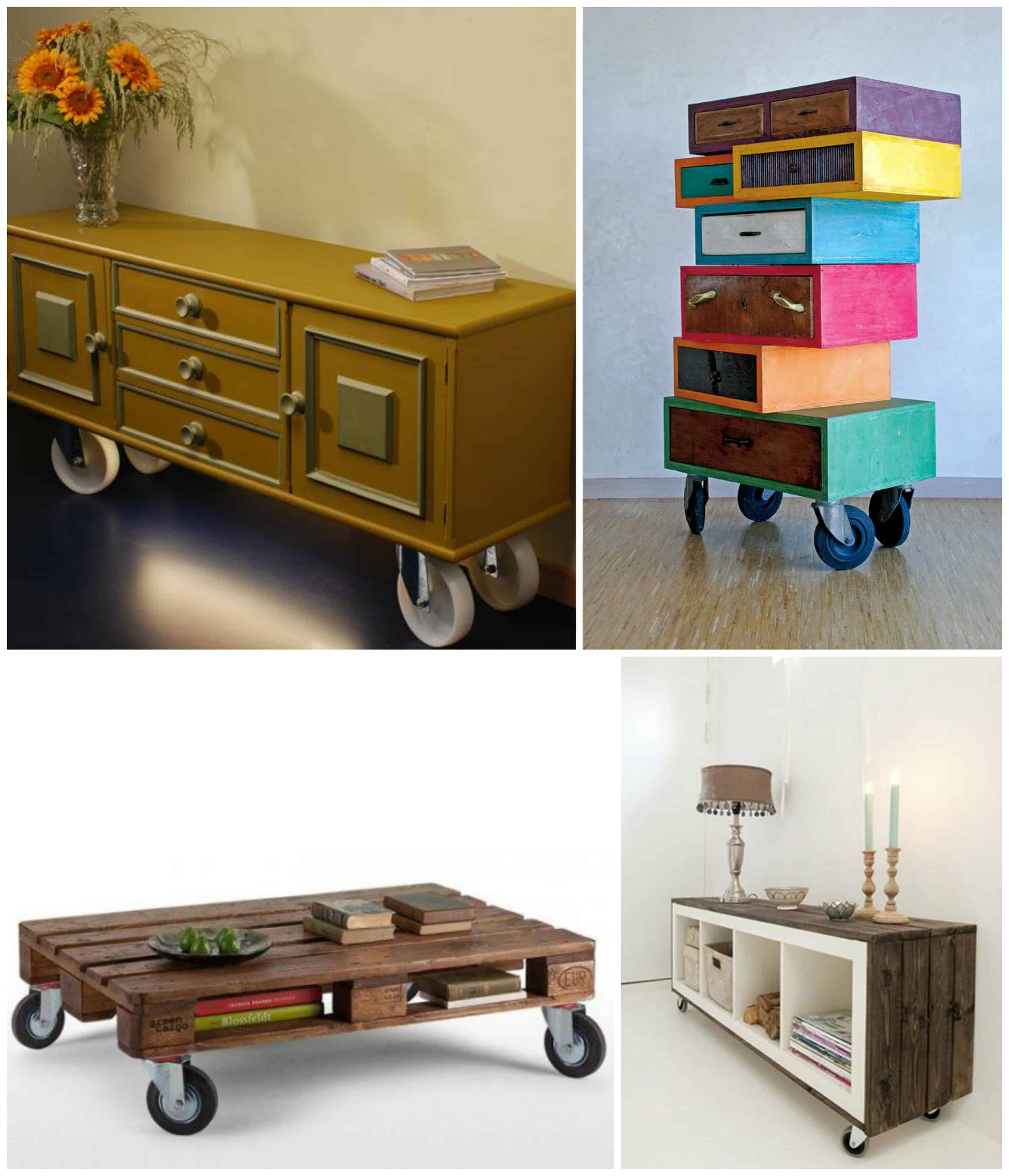 mobili di recupero con ruote, ruote per mobili