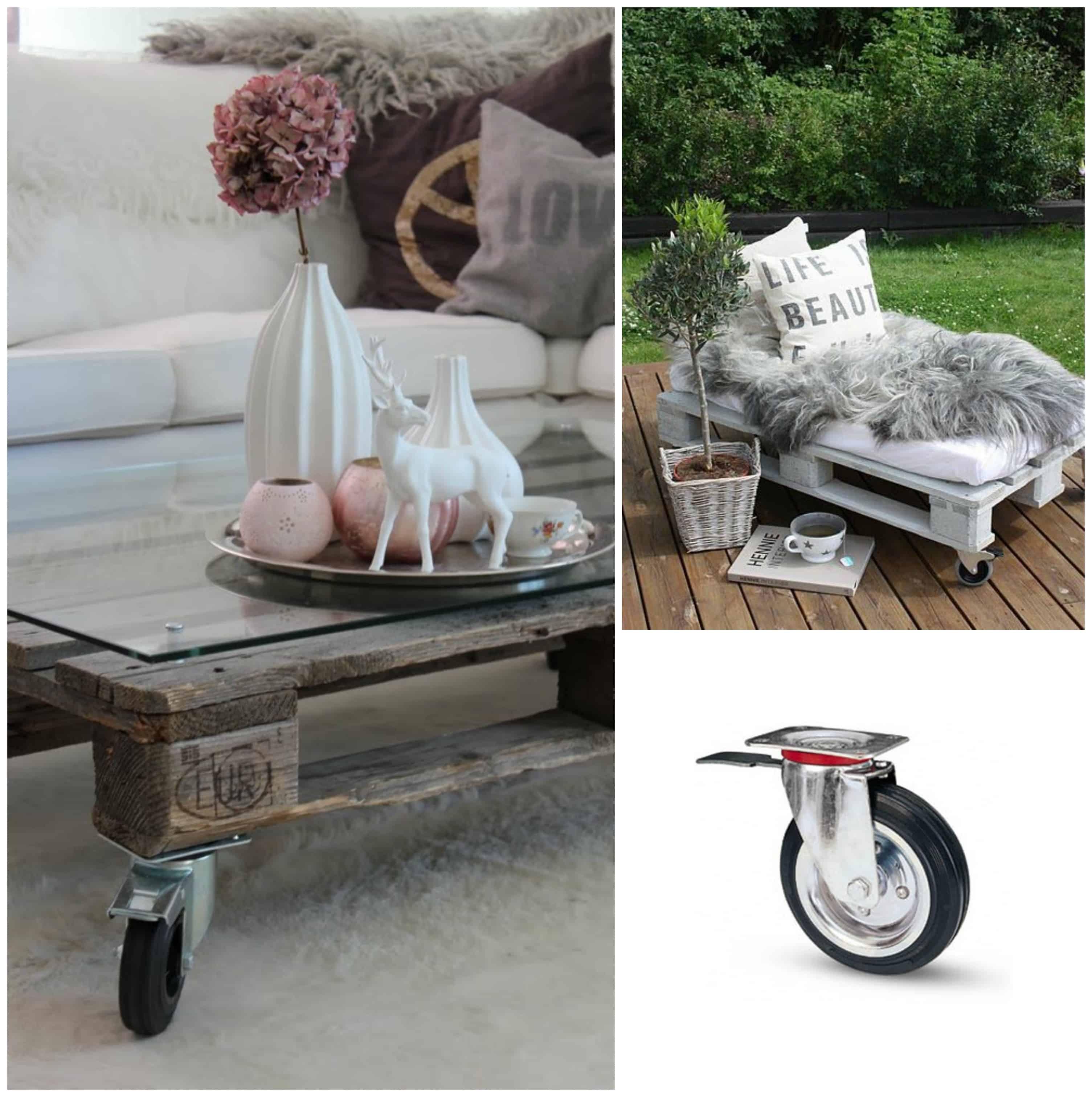 Ruote per mobili di pallet 5 tipologie di ruote d arredo - Mobili fatti con pallets ...