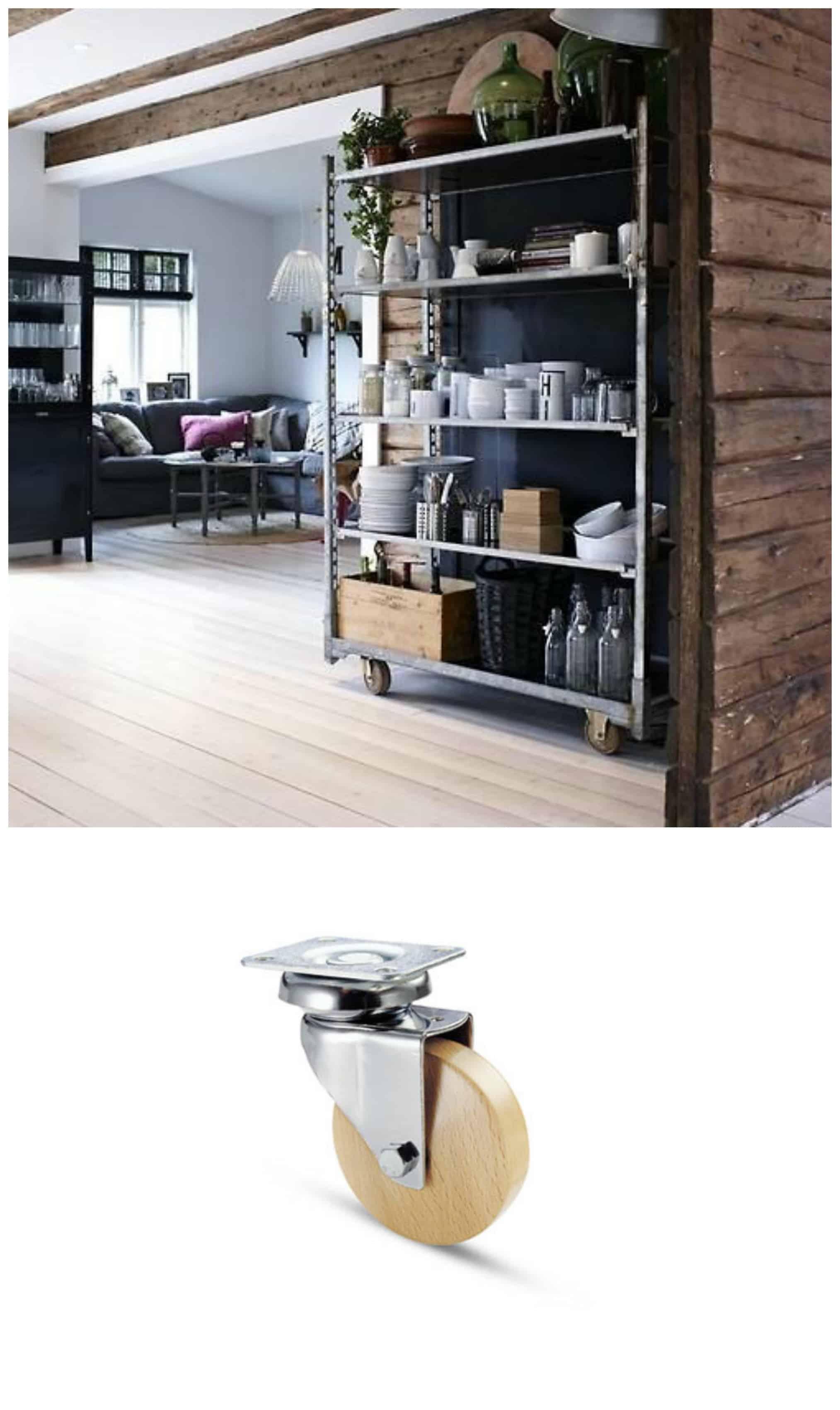 Ruote per mobili di pallet 5 tipologie di ruote d arredo for Mobili legno design