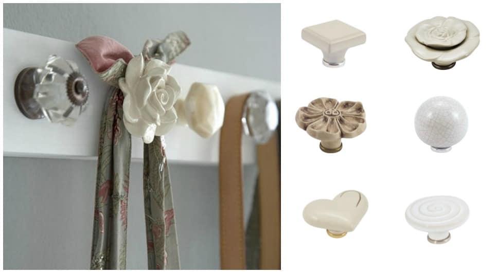 appendiabiti fiore ceramica fai da te con pomelli