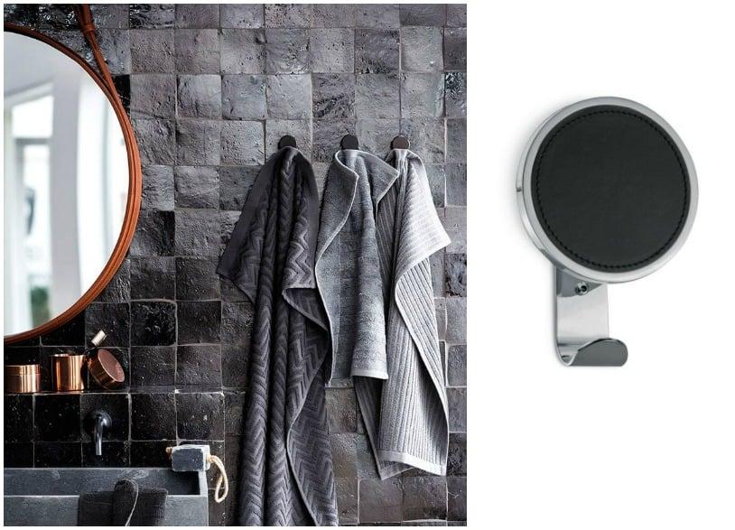 bagno industrial style accessori di pelle chic gancio per asciugamani bagno