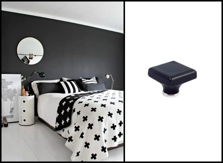 Pomelli in ceramica per mobili idee decorative per la for Camera da letto nera