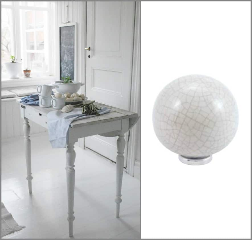 Pomelli in ceramica per mobili idee per decorare la casa for Decorare stanza shabby chic