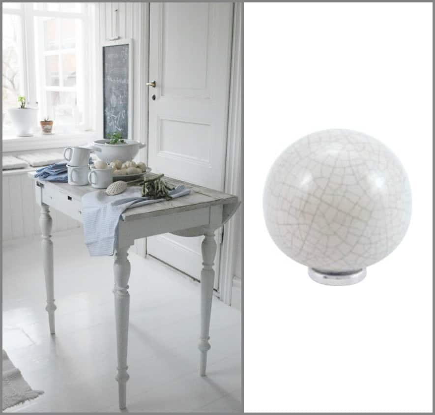 cucina shabby chic pomelli ceramica decorativi idee per decorare i mobili