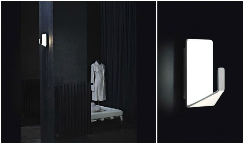 Nemo Cassina Design gancio porta abito e lampada per bagno Valli Arredobagno stile moderno
