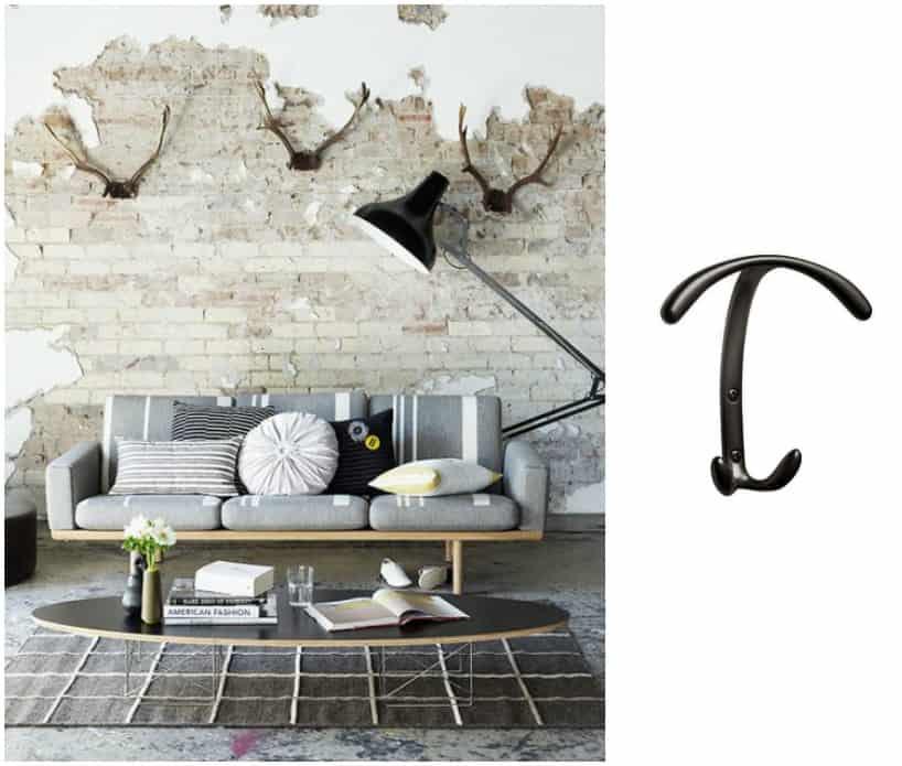 12 ganci portabiti da parete di design a partire da 3 for Accessori di design per la casa