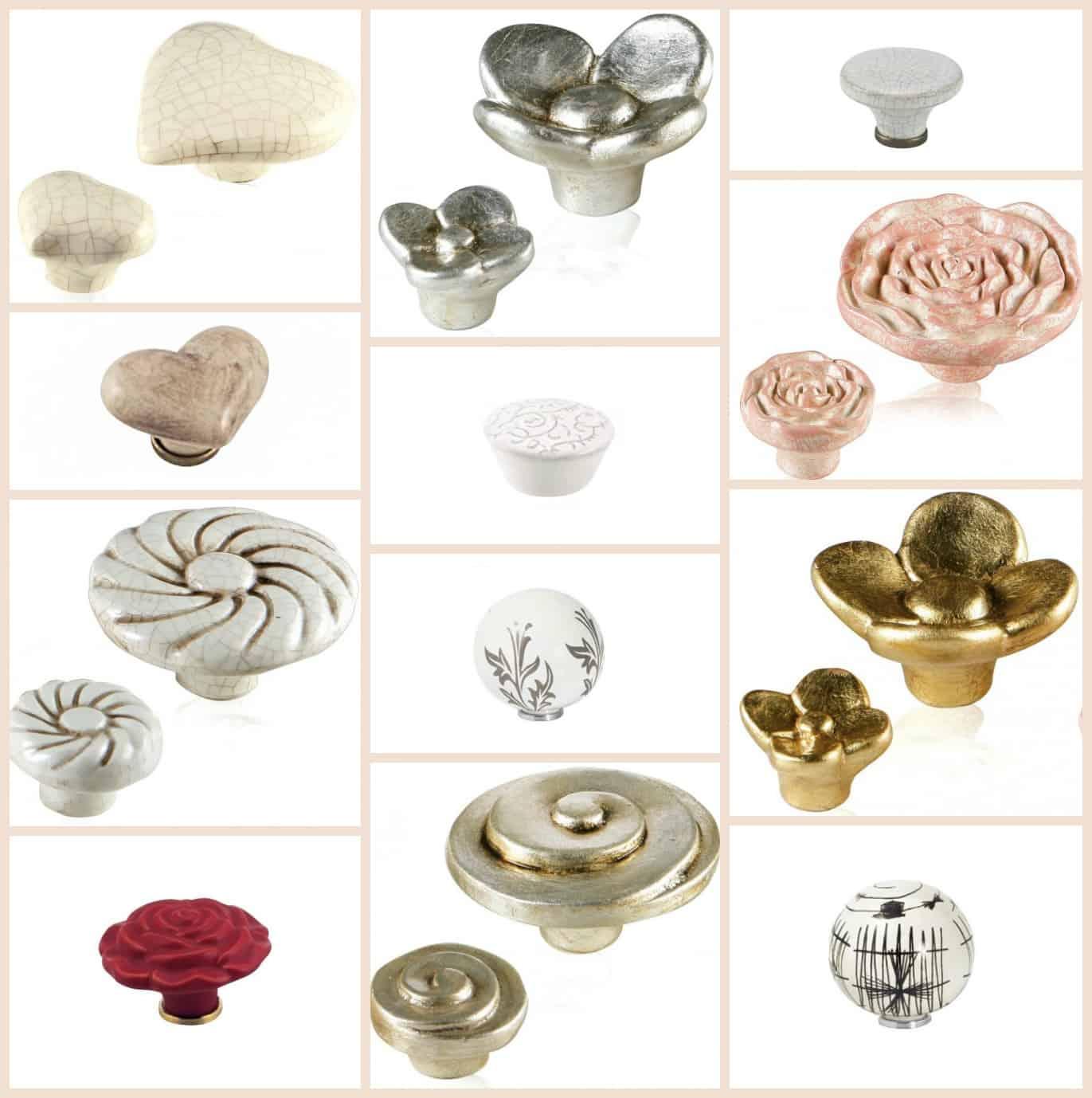 Pomelli in ceramica per mobili Shabby Chic - Tuttoferramenta ...