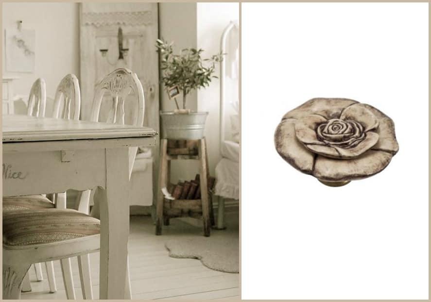 Pomelli in ceramica per mobili shabby chic Mobili per la sala