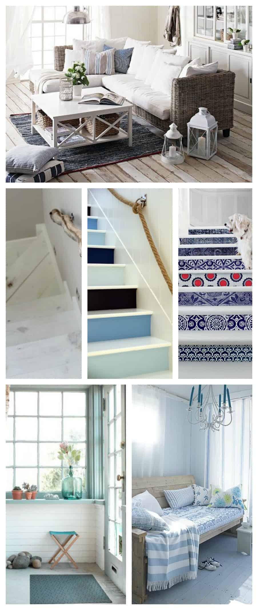 La casa al mare ispirazioni per arredare in stile nautico tuttoferramenta blog - Decorazioni in legno per pareti ...