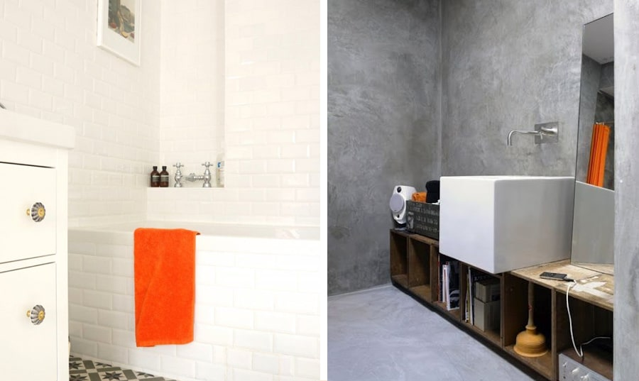 Orange is the new black idee creative per arredare - Colore pareti bagno ...