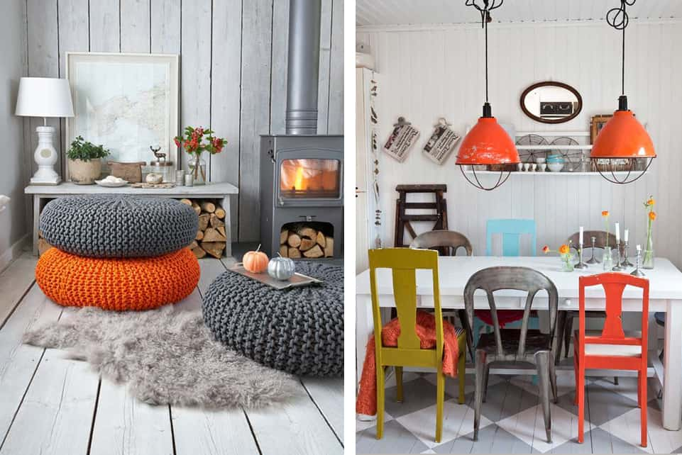 idee creative per arredare casa - orange is the new black