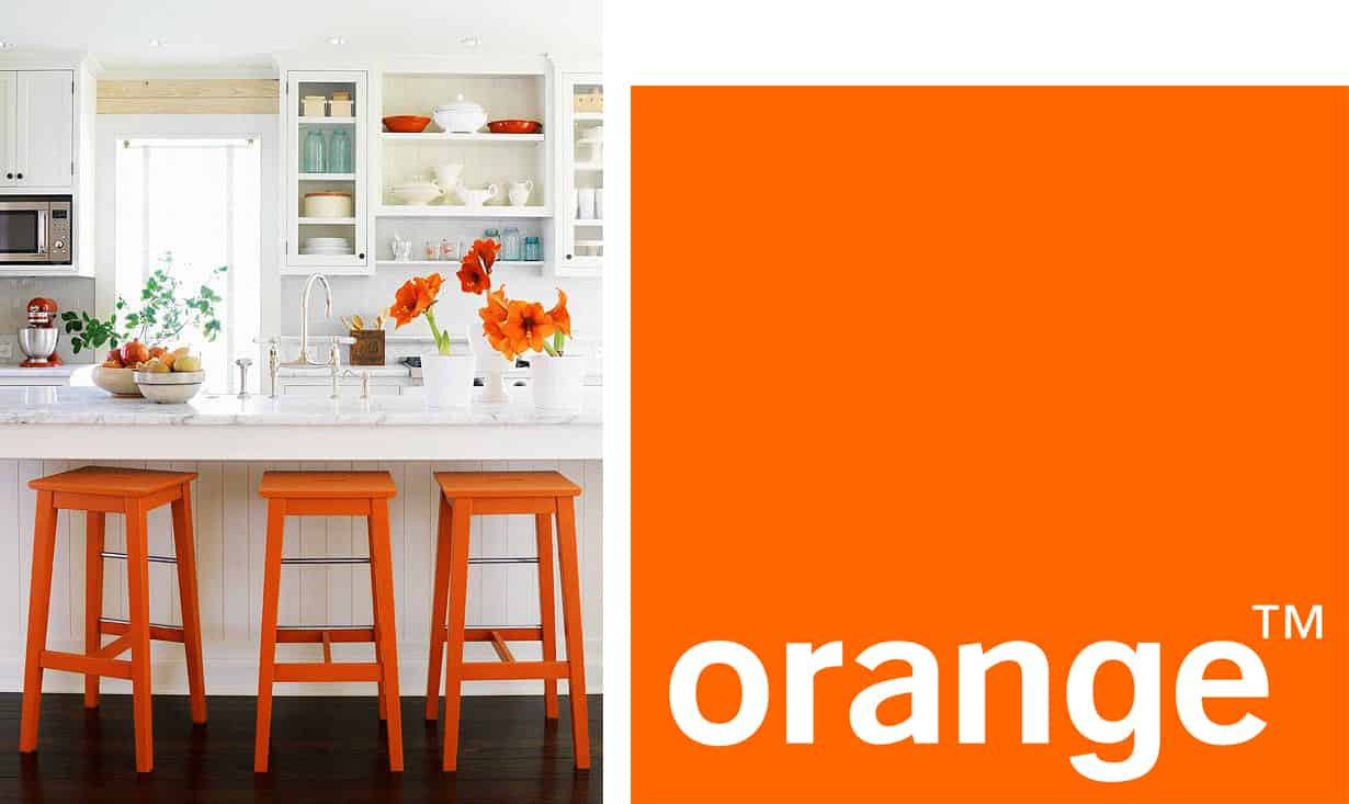 Orange is the new black idee creative per arredare - Idee per arredare la cucina ...