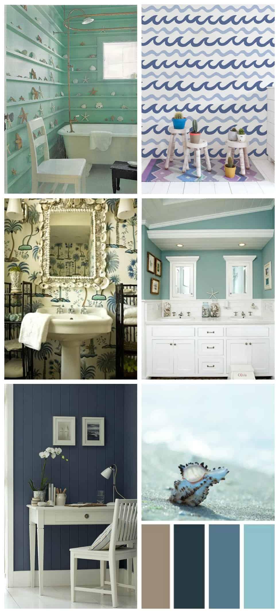 pareti colorare per la casa al mare idee creative per lo stile marinaro