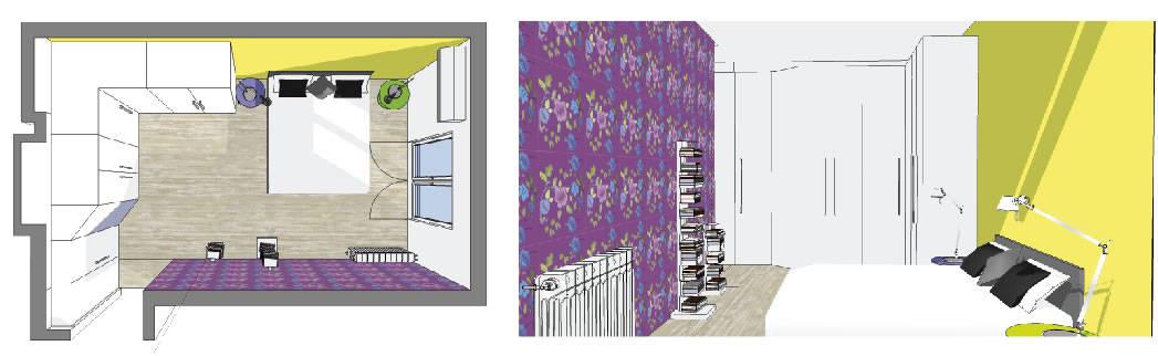 Arredo : progetto per una casa piccola / singola stanza per ricreare un look nuovo con un piccolo butget