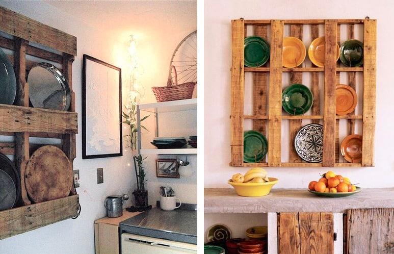 idee pallet - la piattaia in cucina