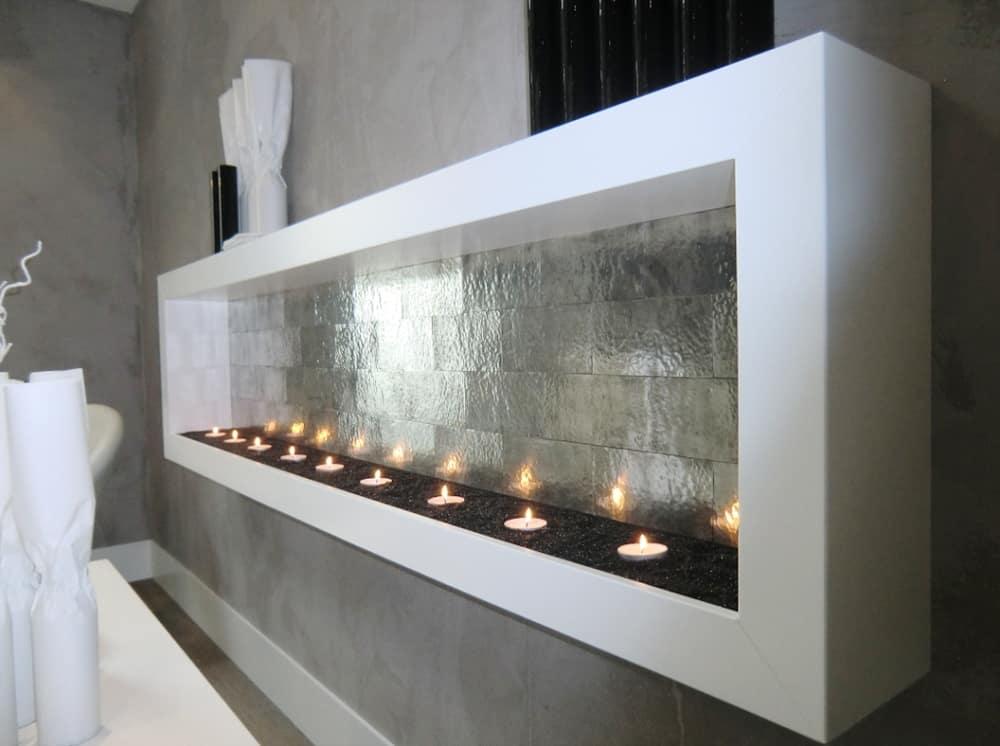 Artigianato italiano piastrelle in metallo per bagno e cucina - Incollare piastrelle su piastrelle bagno ...