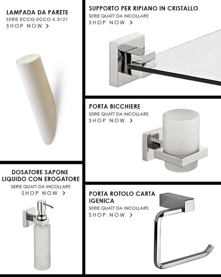 Suggerimenti e idee per organizzare il bagno for Accessori arredo bagno