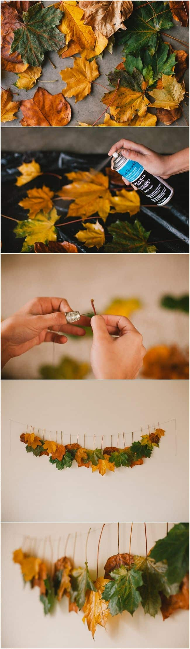 Arredo casa faidate con le foglie - autunno