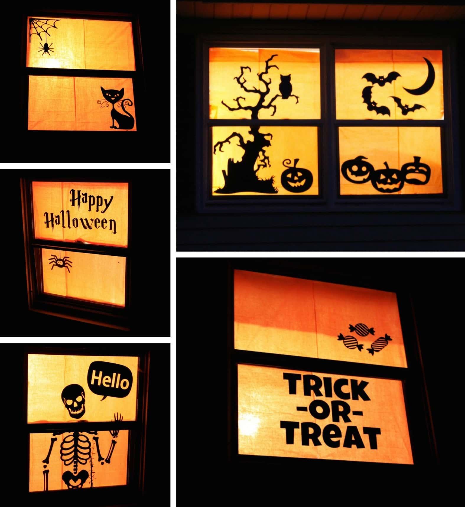 Decorazioni per finestre halloween una casa mostruosa