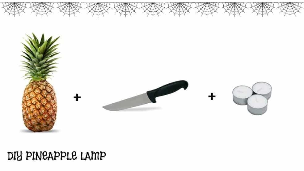 PINEAPPLE LAMP LANTERNA DI HALLOWEEN CON ANANAS IDEA INNOVATIVA PER LA NOTTE DI HALLOWEEN