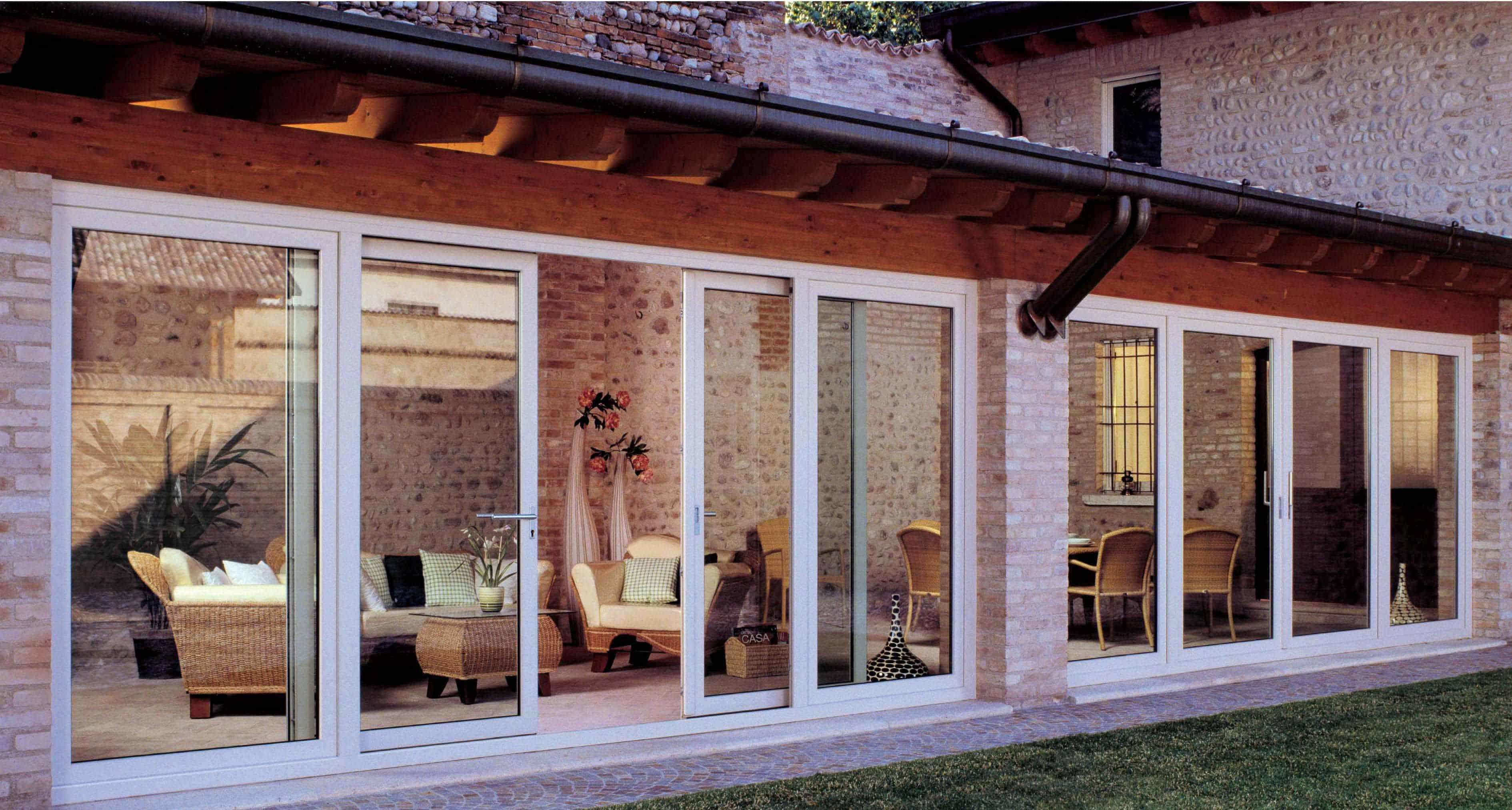 Ante in vetro pronte per ogni esigenza d 39 arredo for Prezzi porte finestre in alluminio