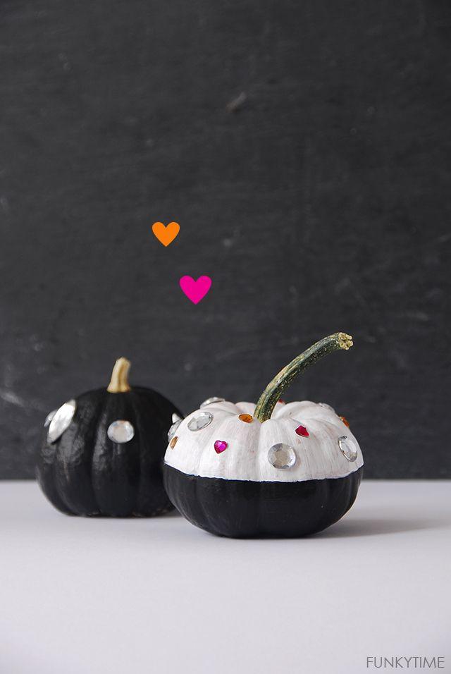 Zucche decorative Halloween Nere