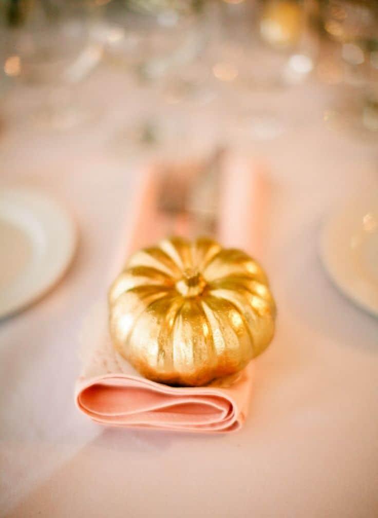 Zucche decorative Halloween oro