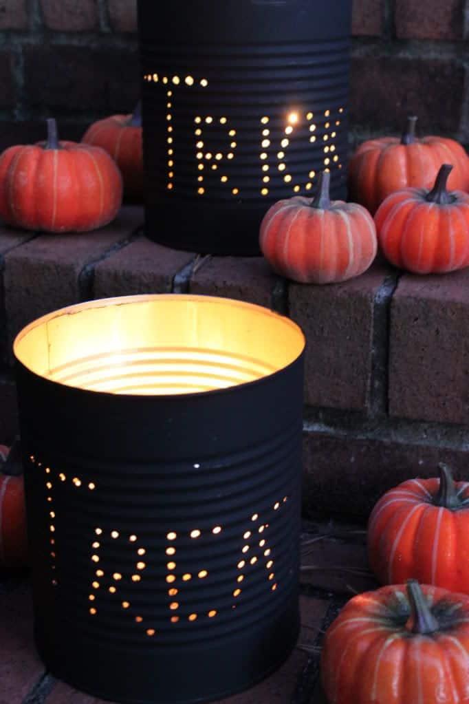 barattoli decorati per halloween