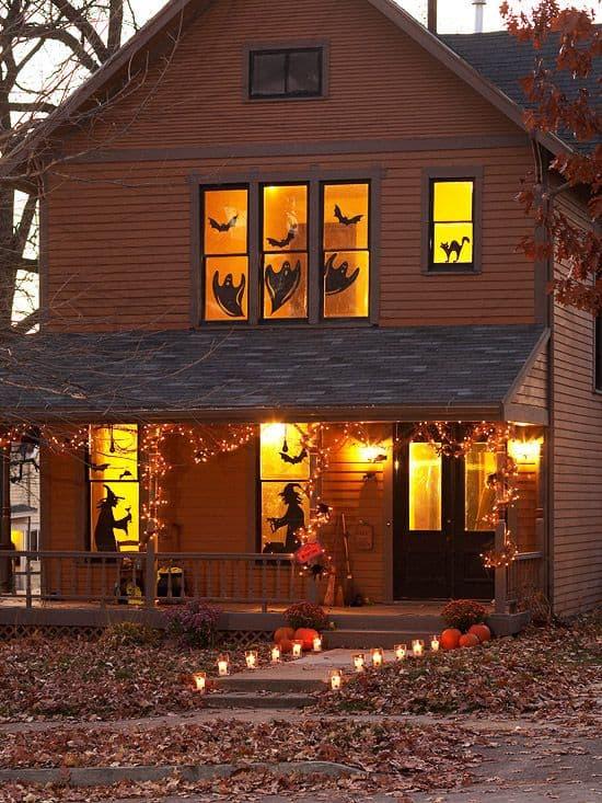 decorazioni per finestre spaventose halloween