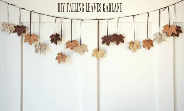 ghirlanda di foglie faidate