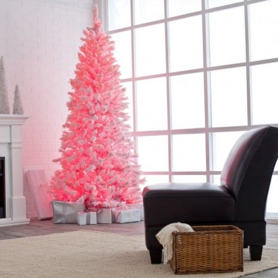 albero-di-natale-semplice-e-rosa