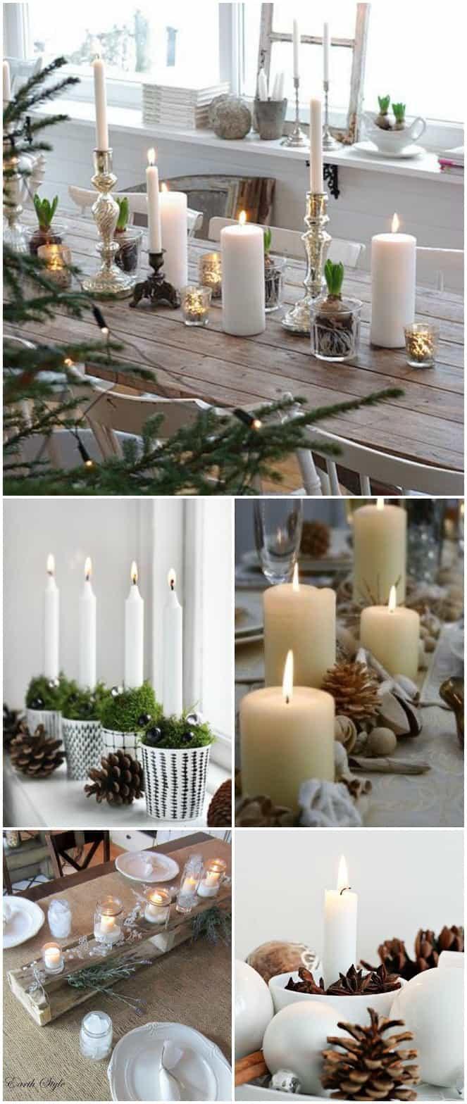 Natale in tavola idee fai da te segnaposti centrotavola e addobbi in stile natalizio - Centrotavola natalizi pinterest ...