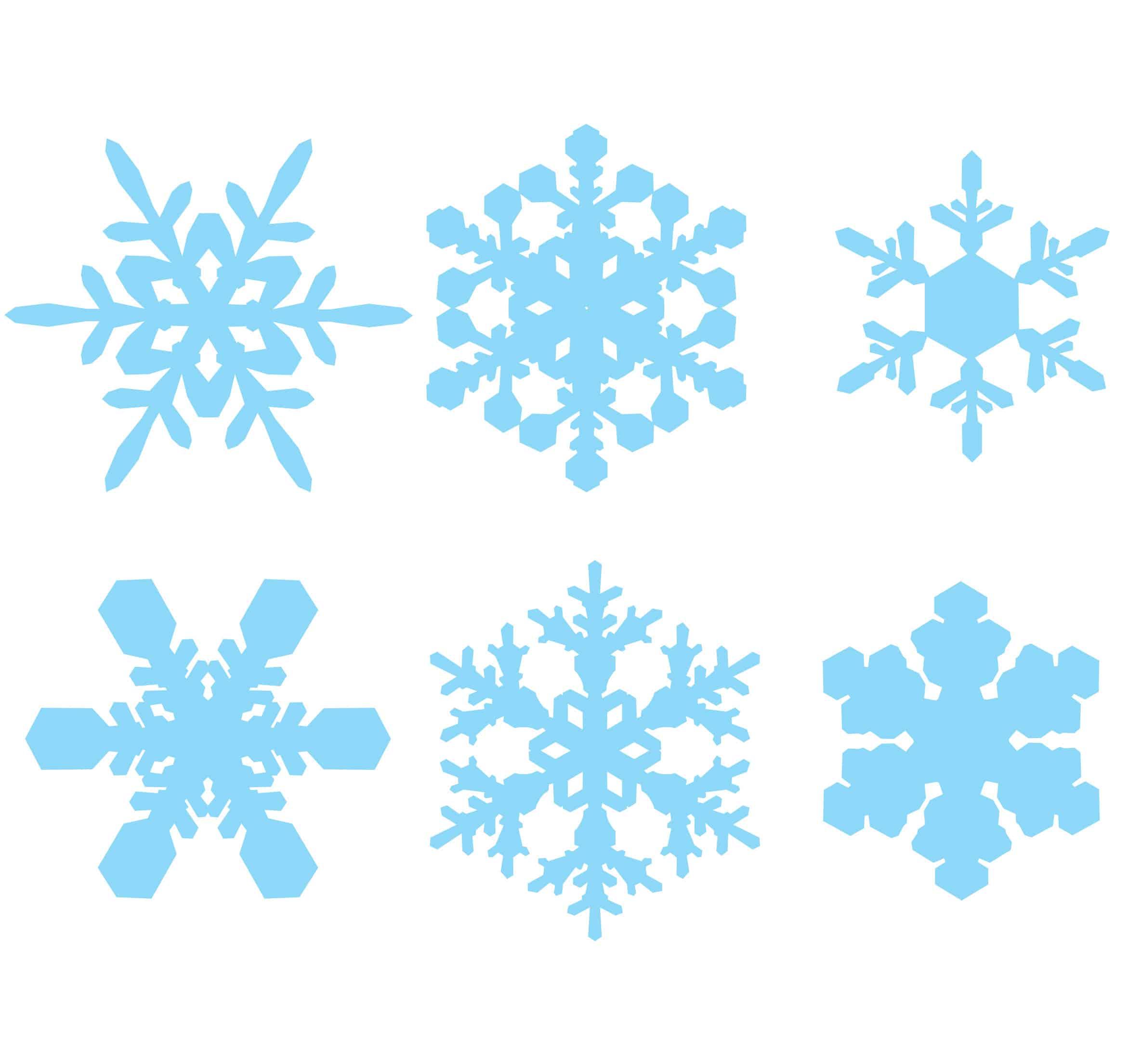 Fiocchi di neve da stampare e ritagliare