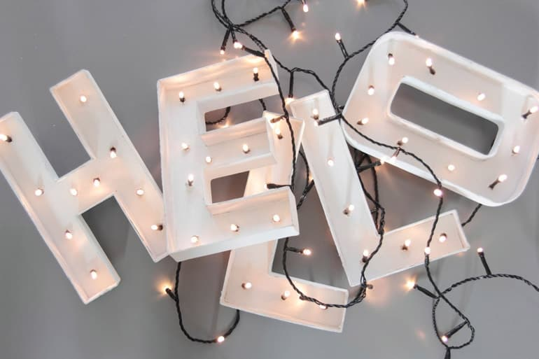 Lettere luminose Led
